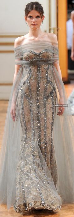 I like the use of tulle/chiffon. Zuhair Murad Fall Winter 2013-14 Haute Couture Collection
