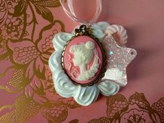 Sailor Moon Cameo Brooch Decoden Necklace Kawaii Whipped Cream and Candy Desserts Chocolate These are ready to ship jewelry pieces. Each is unique and made by hand using only licensed toys. Combination of whipped cream that squishes together