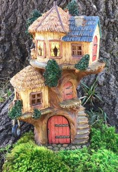 Fairy and Gnome Garden Treehouse http://www.burgeandcompany.com