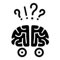 confused Icon Brain Illustration, Confused, Peace, Projects, Log Projects, Blue Prints, Sobriety, World