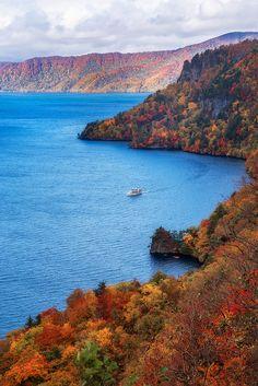 Towada Lake In Autumn - Aomori, Japan