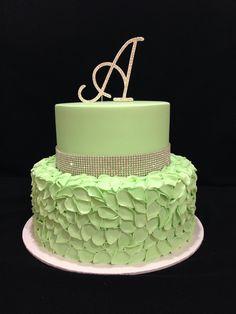 Soft green  40th birthday cake made by @sweetsbysuzie Melbourne