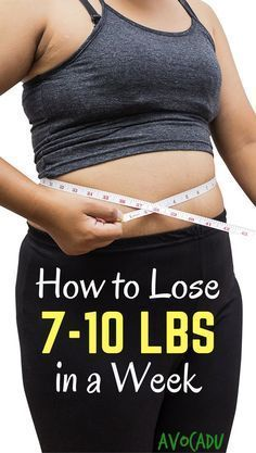 Lose 7 pounds in a week | Lose weight fast | Diet and Weight loss tips | Lose weight in a week | http://avocadu.com/lose-7-10-pounds-week/