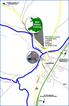 Map and Directions to Mid Wales Trading Website Designers Aberystwyth, Marketing, Wales, Designers, How To Get, Map, Website, Welsh Country, Location Map