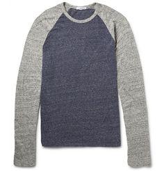 James Perse Marled Cotton-Jersey Long-Sleeved Raglan T-Shirt | MR PORTER