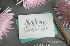 Wedding Card to Your DJ Musician - Thank You for Keeping the Dance Floor Hot - Wedding Music Band Vendor Thank You Card CS12