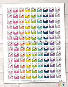 Happy Face Happy Mail Printable Planner Stickers – Erin Bradley/Ink Obsession Designs