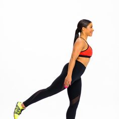 Day 7: Drop It Like It's Squat - Fitnessmagazine.com |  Squat to Back Leg Lift  Perform a squat, lifting your leg out behind you on your way back up. Switch legs with every rep. Do 2 sets of 30 reps.