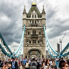 This was shot last year when the #TourdeFrance visited #London. #TowerBridge was shut to traffic for the first time since I've lived here! Very #28DaysLater...
