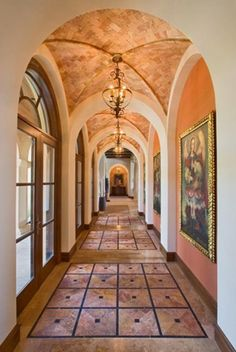 Love the warm in this hall