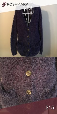 Ladies cardigan Plum , button front, small pockets on bottom Maison Jules Sweaters Cardigans