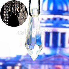 10X Kristall Pendel Tropfen Anhänger Tip für Pendelleuchte Kronleuchter Lüster
