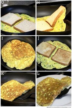 Egg omelet or egg omelette recipe-Indian style bread egg omelet recipe with step by step pictures.Egg paratha,egg toast,egg paratha roll,bread egg omelet are few quick breakfast ides. Unique Recipes, Indian Food Recipes, Egg Omelette Recipe, Quick Vegetarian Meals, Egg Sandwiches, Comida Latina, Tasty, Yummy Food, Easy Cooking