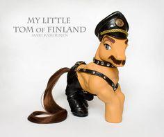 Suomalainen ponitaiteilija Mari Kasurinen teki kulttihahmosta oman poniversionsa. My Little Tom of Finland.