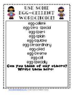 Egg-cellent Word Choice