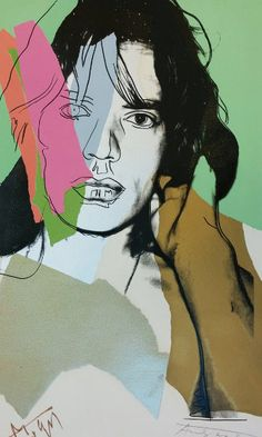 Mick Jagger FS II.140 AP HS by Mick Limited Edition Screenprint on Arches Aquarelle Paper by Andy Warhol From AP edition of 50
