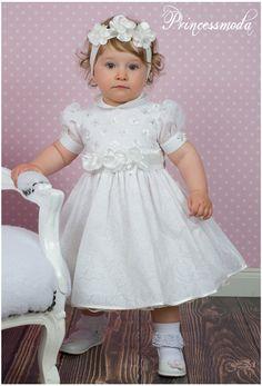 LISBETH - Sehr elegantes Taufkleid in Champagner! - Princessmoda - Alles für Taufe Kommunion und festliche Anlässe