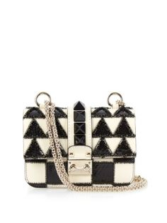 Lock mini leather and snakeskin shoulder bag | Valentino | MATCHESFASHION.COM