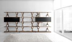 verdesign utterfly bookcase, walnut by enzo berti