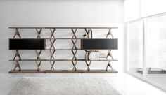 verdesign utterfly bookcase, walnut by enzo berti