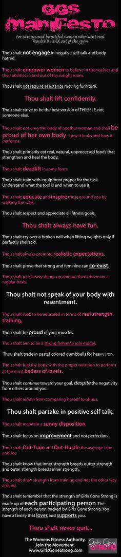Thou Shalt : Manifesto!!