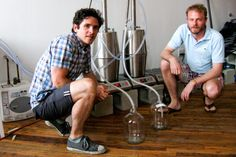 """This is garage-band distilling. Both men have day jobs—Haskell is a magazine editor, and Spoelman is a writer for an architectural firm—so they do their distilling at night and on the weekends. Though Spoelman grew up in eastern Kentucky, he said he didn't think much about his region's moonshine heritage until he went back recently for a film project and returned with a jug for some friends."" -Atlantic Monthly…"
