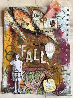 Karen Bearse Designs: art journal ephemera page