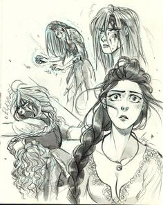 Hi there! I finally started reading The Path of Daggers (HOORAY) and dfjgnfjbnf that fight against Seanchan was great and I wanted to sketch something about it! <3Nynaeve, Elayne, Birgitte and Aviendha - Wheel of Time <<< art by