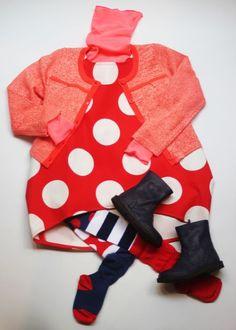 Silhouette fille Rouge/Rose. #bodebo #Billie Blush #Pèpè #lillibulle