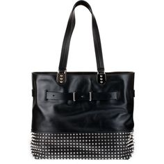 Christian Louboutin Sybil Paris Studded Leather Bag ($2,195) ❤ liked on Polyvore