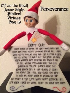 elf on the shelf jesus style biblical virtues perseverance