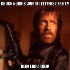 Chuck Norris wurde letztens geblitzt