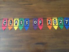 Crayon Banner/Back to School Banner on Etsy, ::Celebrate with Love::