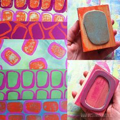 Gelli Plate Printing, Stamp Printing, Printing On Fabric, Origami Design, Homemade Stamps, Foam Stamps, Stamp Carving, Fabric Stamping, Plate Art