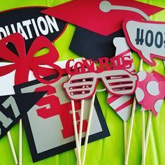 Your place to buy and sell all things handmade Graduation Theme, Graduation Photos, Photo Booth Props, School Colors, Etsy Shop, Handmade Gifts, Check, Kid Craft Gifts, Senior Pics