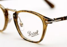 Persol 3109 Typewriter Edition. Striped Brown. Persol, Optical Glasses, Strasbourg, Italian Style, Typewriter, Ray Ban Sunglasses, Detailed Image, Mens Suits, Eyeglasses