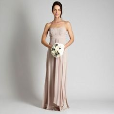 Debut Light brown ruched bust bandeau maxi dress- at Debenhams Mobile Elegant Maxi Dress, Strapless Dress Formal, Bridesmaid Dresses, Prom Dresses, Formal Dresses, Bridesmaids, Chiffon Dress, Clothes For Women, Outfits