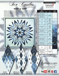 Ice Castles is a Judy Niemeyer Qulting Company specializing in the design, publication and teaching of Foundation Paper Piecing Quilt patterns. Judy's patterns and techniques have helped thousands of quilters, of all skill-levels, produce stunning, comple Lone Star Quilt Pattern, Paper Pieced Quilt Patterns, Star Quilt Blocks, Star Quilts, Quilt Block Patterns, Foundation Paper Piecing, Snowflake Quilt, Fabric Cards, Quilt Tutorials