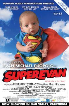 Custom Movie Poster Baby Announcement www5starbabycom baby