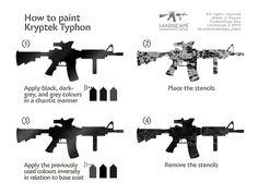 How to paint Kryptek Typhon