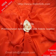 www.silkfabricwholesale.com/  F.D. silk most professional 14mm silk crepe de chine fabric-rust red  supplier.
