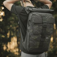 Mission Workshop Limited Black Camo Expandable Cargo Backpacks with COBRA Buckle Closure