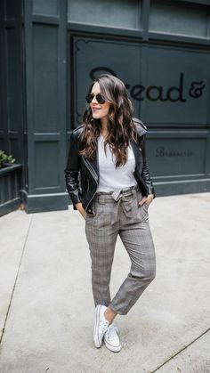 Casual Fall Outfits That Will Make You Look Cool – Fashion, Home decorating Casual Work Outfits, New Outfits, Fall Outfits, Cute Outfits, Fashion Outfits, Outfits Mujer, Hijab Fashion, Fashion Tips, Plaid Pants Outfit