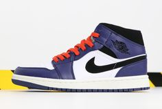 35a3d5ce40e 2018 Air Jordan 1 Mid Deep Royal Blue/Black-White-University Red 852542-400