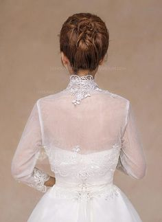 Lace Wedding Dress Bridal Scarf Shawl Shrug Wraps Jacket Cape Bolero Stole Tulle in Clothes, Shoes & Accessories, Wedding & Formal Occasion, Bridal Accessories Tulle Wedding, Lace Weddings, Wedding Party Dresses, Bridal Dresses, Wedding Jacket, Bridal Cape, Wedding Wraps, Wedding Dress Accessories, Lace Embroidery