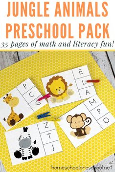 -Teach Preschool with Free Jungle Animal Printables- Do your preschoolers love animals? Do they roar like lions and jump around making monkey sounds? If so, they are going to love these free jungle animal printables! Animal Worksheets, Animal Activities, Kids Learning Activities, Infant Activities, Preschool Activities, Teaching Kids, Teach Preschool, Free Worksheets, Preschool Worksheets