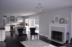 Dolphin Fin Behr living/dining space.