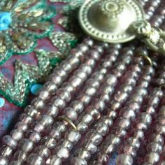 Rustic glass beads.... Vintage, recycled, assorted seed beads.