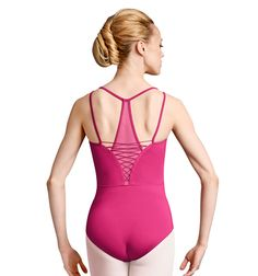 Bloch Womens Lace-up Camisole Leotard