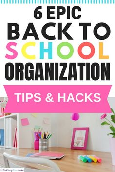 6 Epic Organization Hacks You Gotta Try This School Year is part of Teacher Organization Hacks - Make backtoschool a breeze with these epic organization hacks you gotta try this school year to make it the best one yet! School Supplies Organization, Diy School Supplies, Teacher Organization, Organization Ideas, Organizing Hacks, Hacks Diy, Mom Hacks, Back To School Hacks, School Tips